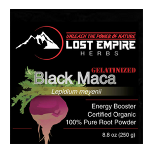 Lost Empire Herbs, Black Maca Powder, Raw and Gelantized