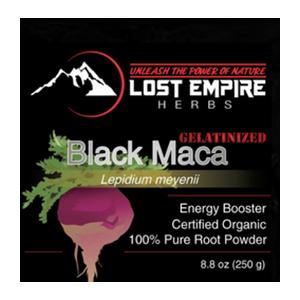 Lost Empire Herbs, Black Maca Powder, Raw and Gelantized