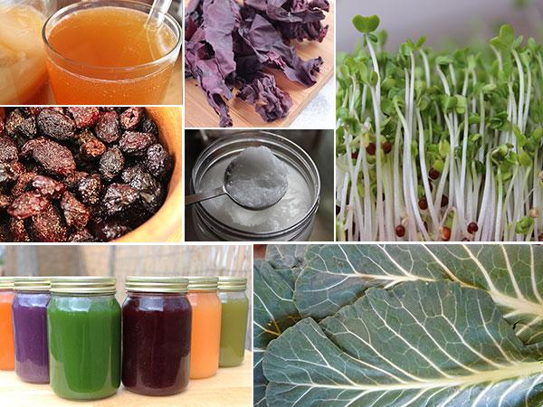 raw-vegan-diet-collage