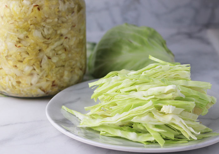 shredded-cabbage-for-homemade-sauerkraut