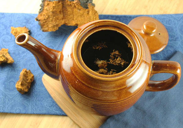 making-chaga-coffee-tea-pot